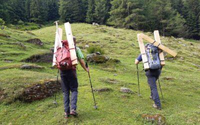Wegebauer unterwegs zur Landshuter Hütte